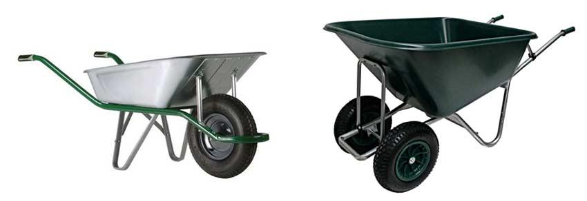 gegalvaniseerde-kruiwagen-en-kunststof-kruiwagen